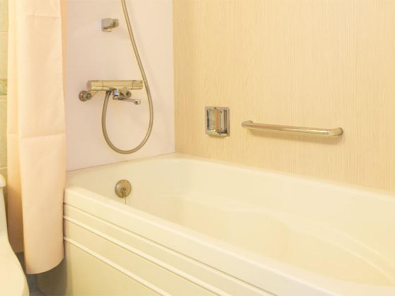成田の隔離ホテルのバスルーム