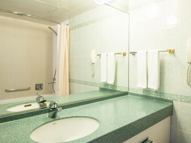 成田の隔離ホテルの洗面所