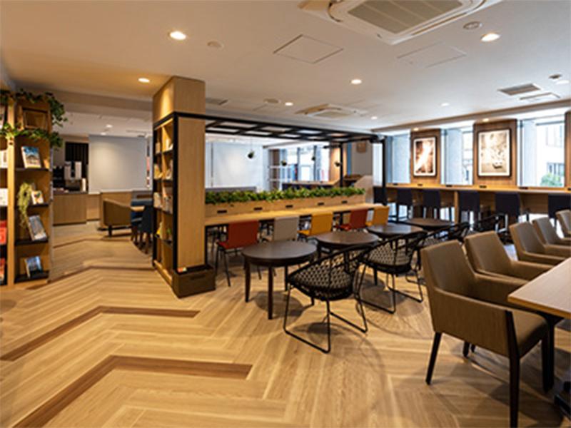 大阪の隔離ホテルの朝食場所